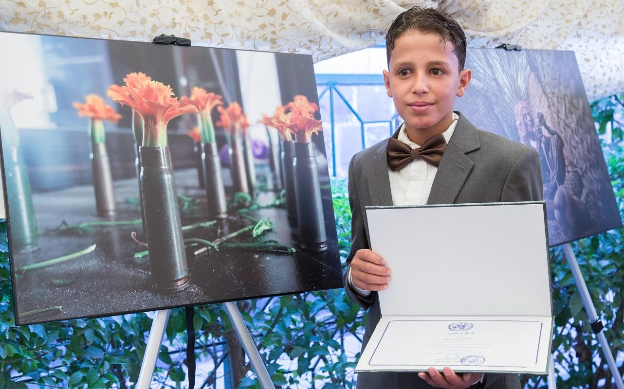 Abdulkareem Ghaleb, a winner of 2018 UN photography contest