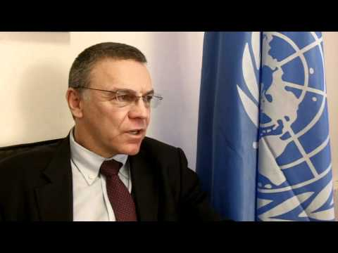 Electoral Assistance Division Director, Craig Jenness talking to UNDP Yemen Channel