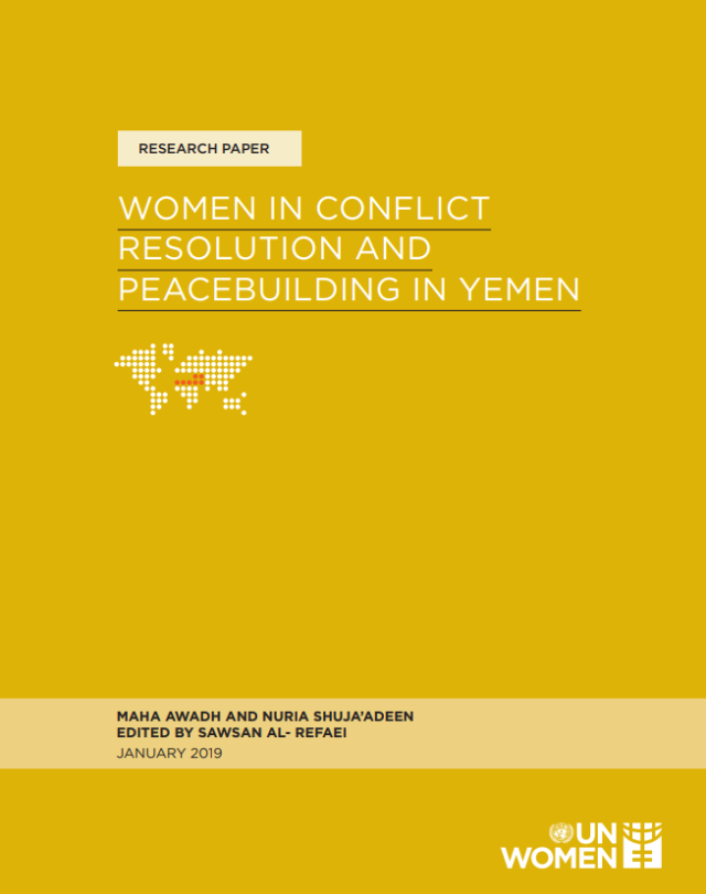 Cover of Women in Conflict Resolution and Peacebuilding in Yemen